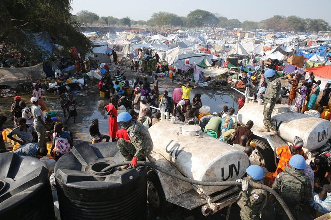 Tens of thousands have been left displaced as a result of South Sudan's internal conflict. EPA/YNA South Korea